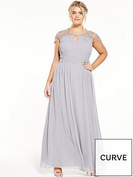 little-mistress-curve-cap-sleeve-maxi-dress-grey