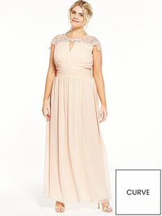 little-mistress-curve-cap-sleeve-maxi-dress-nude