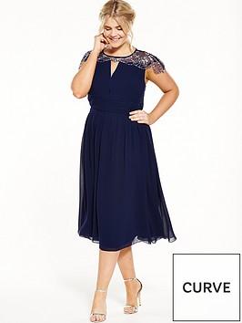 little-mistress-curve-cap-sleeve-midi-dress-navy