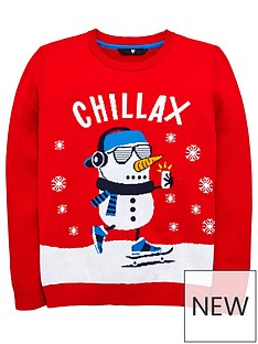 v-by-very-boys-snowman-christmas-jumper