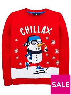 v-by-very-boys-snowman-christmas-jumper