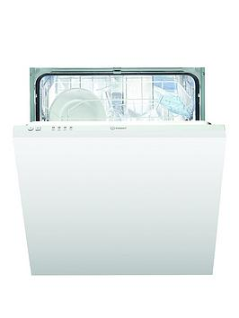 Indesit Dif04B1 13-Place Full Size Integrated Dishwasher, A+ Energy And Optional Installation - White - Dishwasher Only