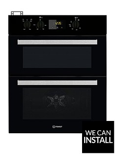 indesit-aria-idu6340bl-built-under-double-electric-oven-with-optional-installation-black