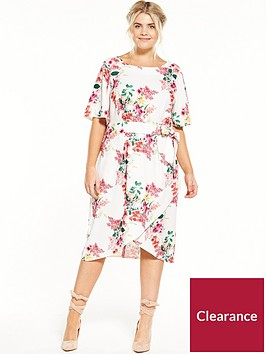 closet-curve-round-neck-printed-dress-with-tie