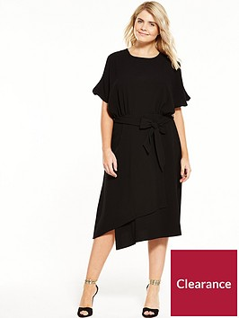 closet-curve-cold-shoulder-dress-with-tie-waist