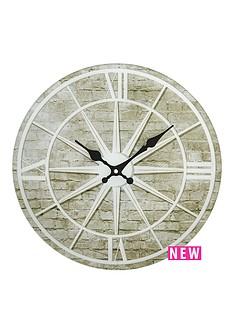 hometime-glass-star-design-wall-clock