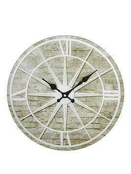 hometime-glass-star-design-wall-clock