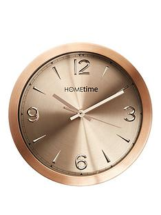 hometime-copper-finish-aluminium-wall-clock
