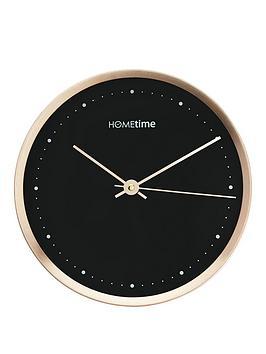 hometime-copper-black-dial-aluminium-wall-clock