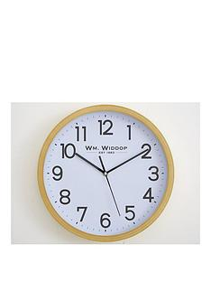 round-wood-effect-wall-clock