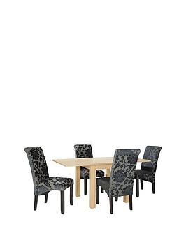 squarenbspto-rectangle-80-160-cm-extending-dining-table-4-oxford-chairs-arrives-in-one-delivery