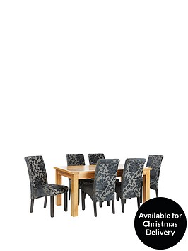 oakland-170-cm-solid-wood-dining-table-6-oxford-chairs