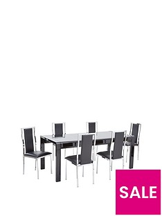 cosmos-138-190-cm-extending-gloss-dining-table-6-atlantic-chairs
