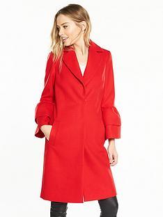 v-by-very-ruffle-sleeve-coat-red