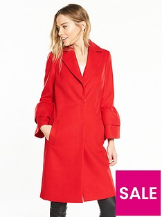 v-by-very-ruffle-sleeve-coat-red