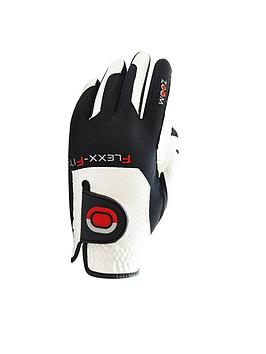 Zoom Zoom Weather One Size Fits All Golf Glove Black White