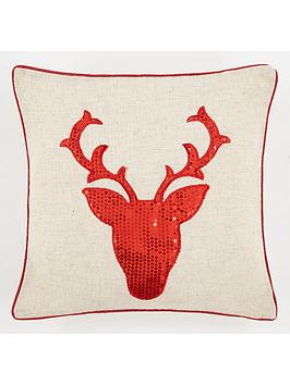 sequin-stag-cushion