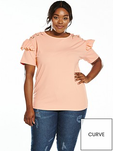 v-by-very-curve-eyelet-shoulder-ruffle-top-blush