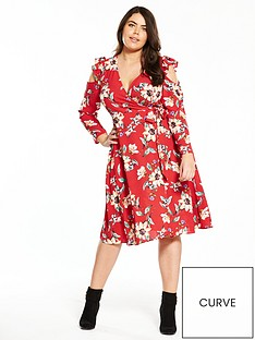 v-by-very-curve-cold-shoulder-wrap-dress