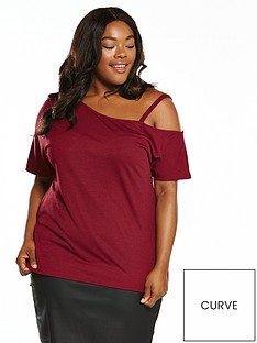 v-by-very-curve-asymmetric-shoulder-tunic-burgundy