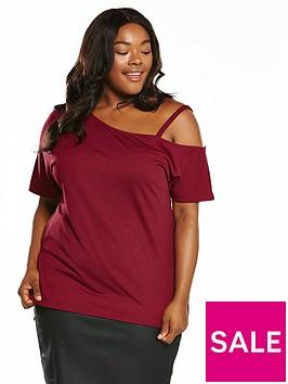 v-by-very-curve-asymmetric-shoulder-tunic-burgundy