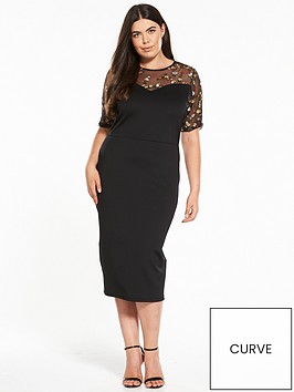 v-by-very-curve-embroidered-yoke-bodycon-dress