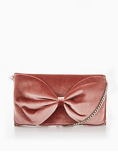 miss-kg-twist-velvet-bow-clutch-bag