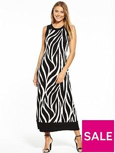wallis-st-tropez-maxi-dress-monochrome