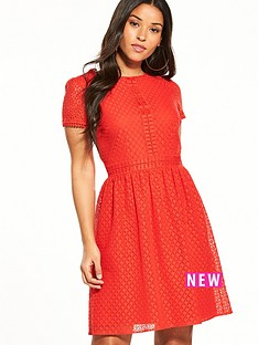 oasis-lace-skater-dress