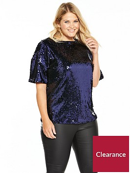 v-by-very-curve-sequin-top-midnight