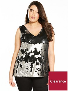 v-by-very-curve-sequin-cami-pewter