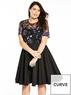 v-by-very-curve-3d-lace-prom-dress-black