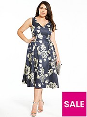 e9a38ed99ea V by Very Curve Jacquard Prom Dress