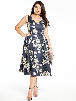 v by very curve jacquard prom dress