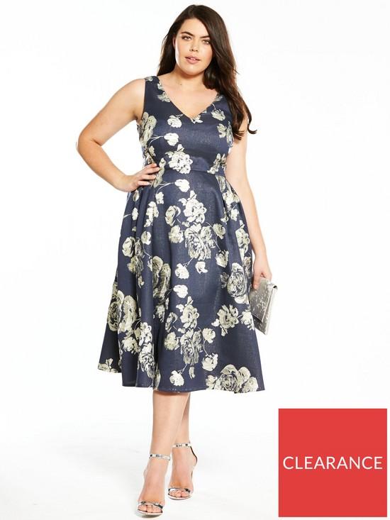 f45968da2d7 V by Very Curve Jacquard Prom Dress