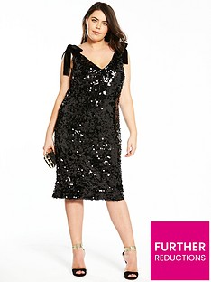 v-by-very-curve-velvet-tie-strap-sequin-dress-black