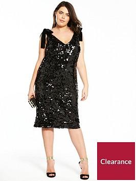 v-by-very-curve-velvet-tie-strap-sequin-dress-black