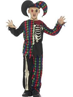 childs-skeleton-jester-halloween-costume