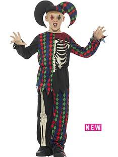 childs-skeleton-jester-halloween-costume