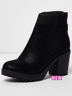 river-island-river-island-ikra-zip-up-chunky-ankle-boot