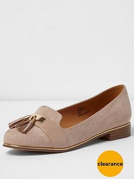 river-island-river-islandnbspwide-fit-tassle-shoes
