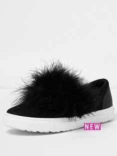 river-island-wide-fit-fur-vamp-slip-on