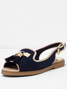 river-island-rascal-flat-sling-back-shoe
