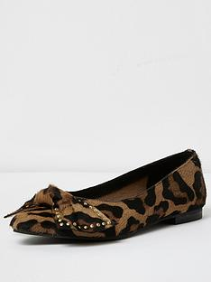 river-island-hellsey-bow-front-shoe