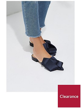 river-island-river-islandnbspbow-backless-loafer