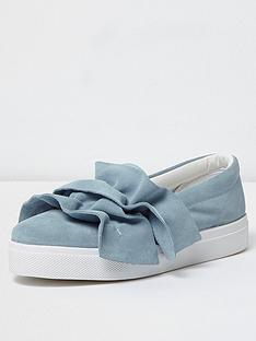 river-island-dolfin-ruffle-slip-on-shoe
