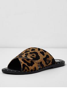 river-island-river-island-animal-print-studded-flat-sandal