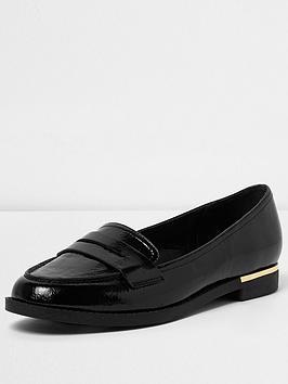 river-island-black-tazmin-loafer