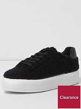 river-island-river-islandnbspblack-lace-up-trainer