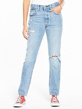 Levis 501 Skinny Ripped Jean